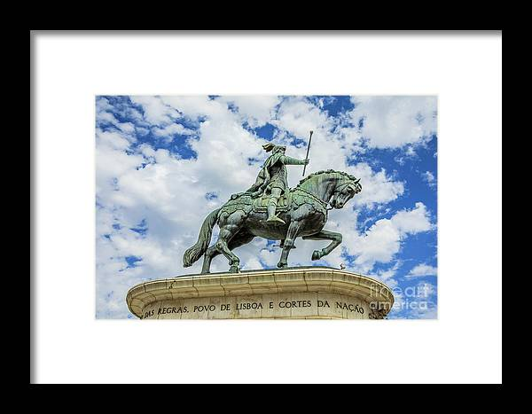 Lisbon Framed Print featuring the photograph Statue Of King John I Lisbon by Benny Marty