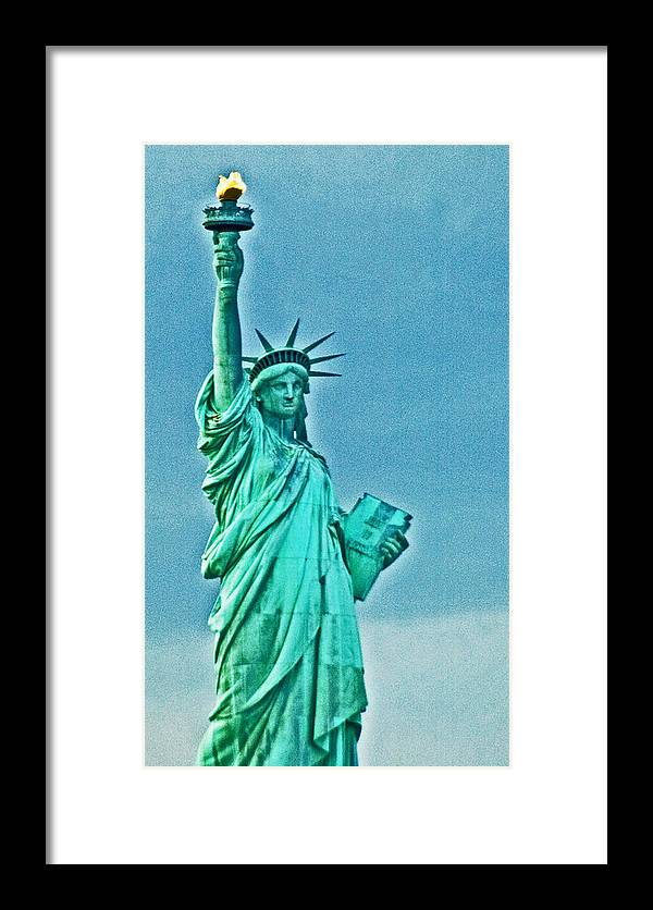 Statue Of Liberty Framed Print featuring the photograph Statue Of Liberty by Allan Einhorn