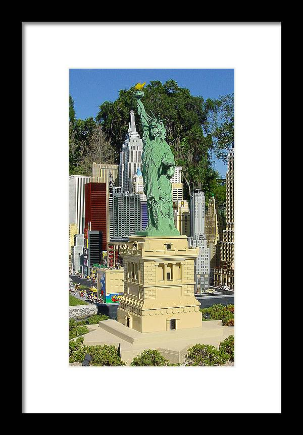 Pat Turner Framed Print featuring the photograph Statue Of Liberty by Pat Turner