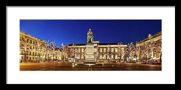The Hague Framed Print featuring the photograph Statue Of William Of Orange On The Plein - The Hague by Barry O Carroll