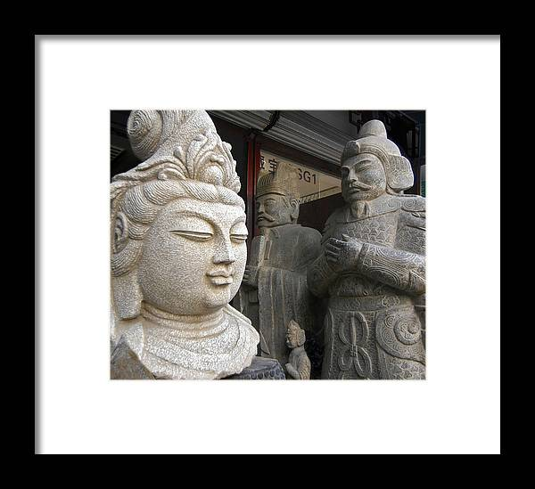 China Framed Print featuring the photograph Statues by Murray Bloom