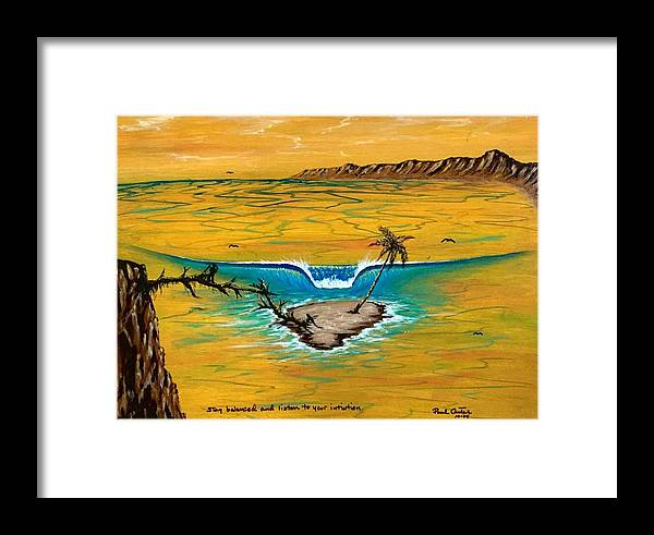 Tropical Island Prints Framed Print featuring the drawing Listen To Your Intuition by Paul Carter
