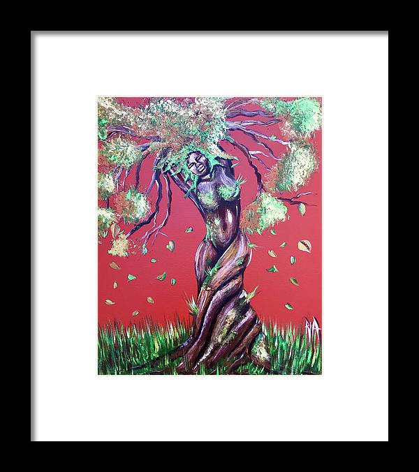 Tree Framed Print featuring the painting Stay Rooted- Stay Grounded by Artist RiA