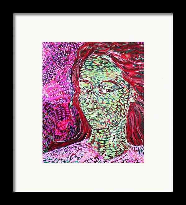 Female Framed Print featuring the painting Stay With Me by Rollin Kocsis