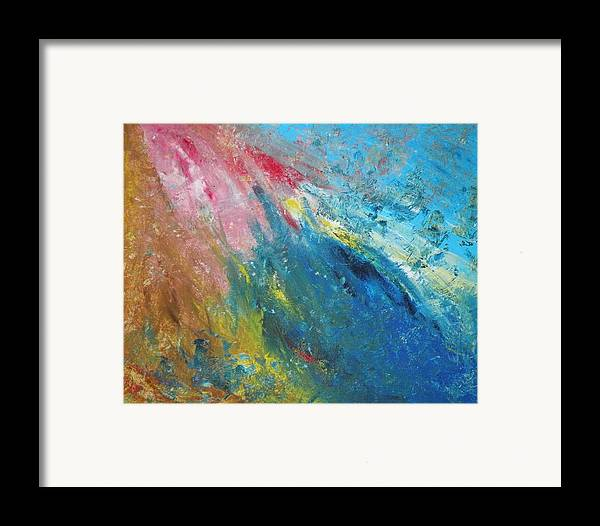 Inner World Framed Print featuring the painting Steadfast by Christine Martin