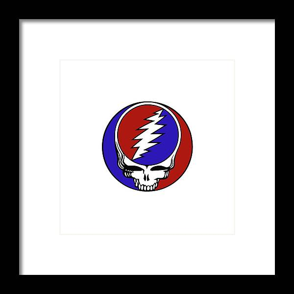 Steal Your Face Framed Print featuring the digital art Steal Your Face by Gd