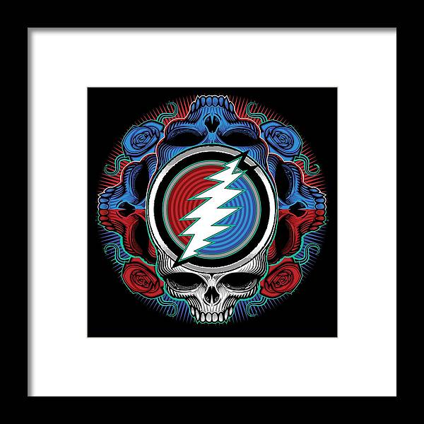 Steal Your Face Framed Print featuring the digital art Steal Your Face - Ilustration by The Bear