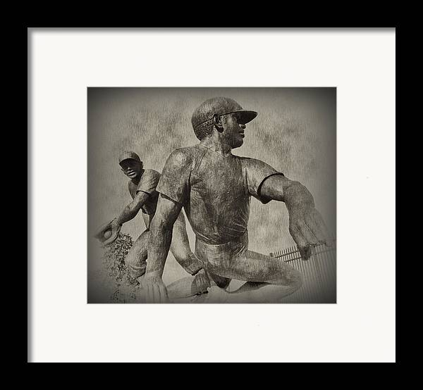 Baseball Framed Print featuring the photograph Stealing Third by Bill Cannon