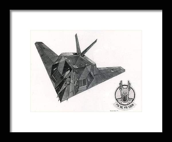 Air Force Framed Print featuring the drawing Stealth by Mark Jennings