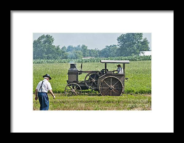 Steam Engine Framed Print featuring the photograph Steam Engine Plowing by David Arment