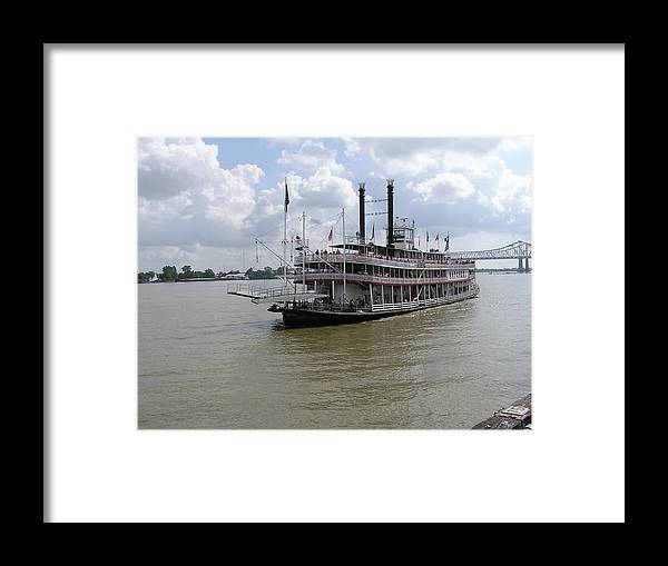 New Orleans Framed Print featuring the photograph Steamboat Natchez 2 by Jack Herrington