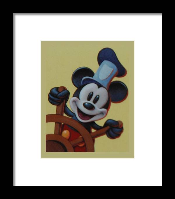 Disney Framed Print featuring the photograph Steamboat Willy by Rob Hans