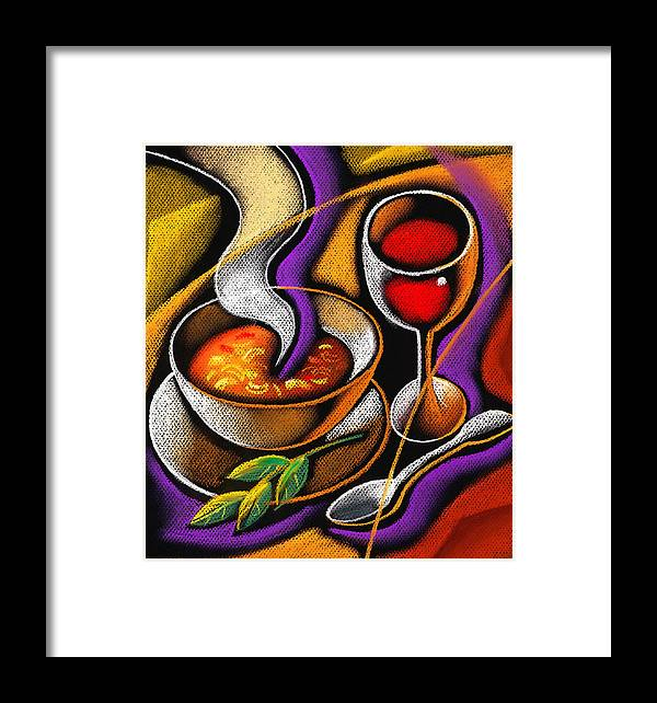 Appetite Appetizing Artwork Benefit Bowl Broth Consumption Container Cookware Crockery Cutlery Delicious Delight Devouring Diet Dieter Dieting Dining Dinner Dinnerware Dish Dishware Drawing Eating Flatware Food Gracious Graphic Graphic Art Graphic Gratifying Health Healthy Hot Hunger Hungry Lettuce Lifestyle Lunch Luncheon Lunchtime Meal Nourishment Nutrition Salad Soup Spoon Steaming Supper Table Setting Tableware Tasty Vegetable Wholesome Wholesomeness Yummy Decorative Painting Abstract Art Framed Print featuring the painting Steaming Supper by Leon Zernitsky