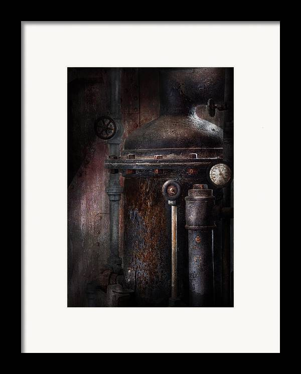 Hdr Framed Print featuring the photograph Steampunk - Handling Pressure by Mike Savad