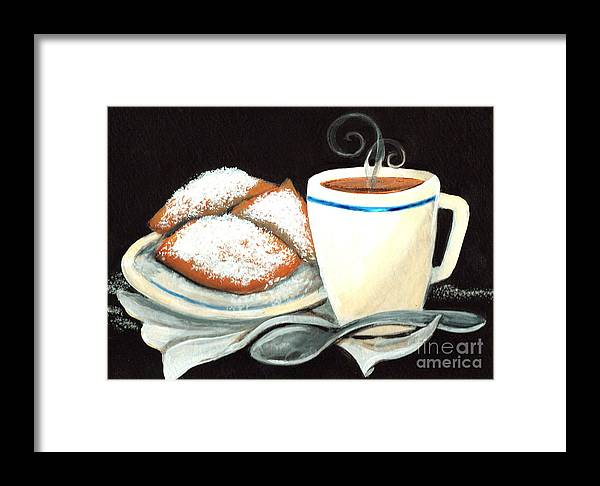 New Orleans Framed Print featuring the painting Steamy Coffee Swirls by Elaine Hodges