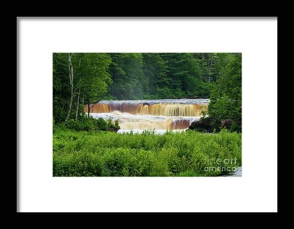 America Framed Print featuring the photograph Steamy Lower Tahquamenon by Jennifer White