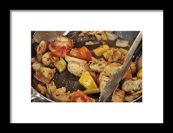 Meat Framed Print featuring the photograph Steamy Stirfry by Linda A Waterhouse