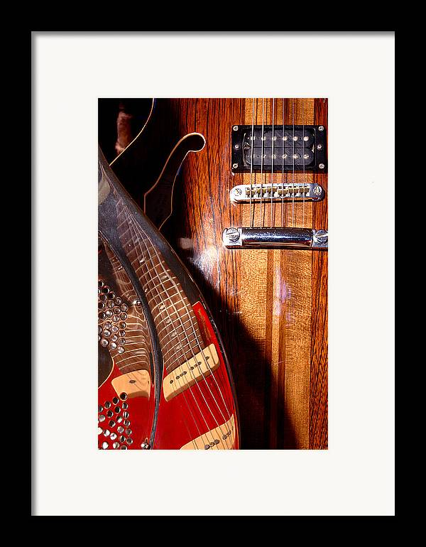 Guitar Framed Print featuring the photograph Steel And Wood 1 by Art Ferrier