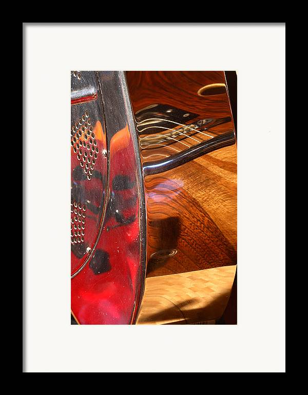 Guitar Framed Print featuring the photograph Steel And Wood 2 by Art Ferrier