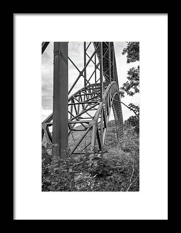 Gorge Bridge Framed Print featuring the photograph Steel Wonder 2 Bw by Steve Harrington