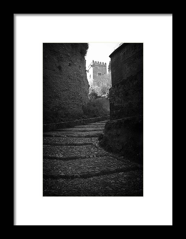 Jez C Self Framed Print featuring the photograph Steep Walk To The Tower by Jez C Self