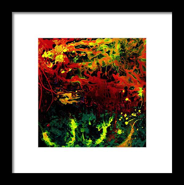 Abstract Framed Print featuring the painting Stella by Jess Thorsen