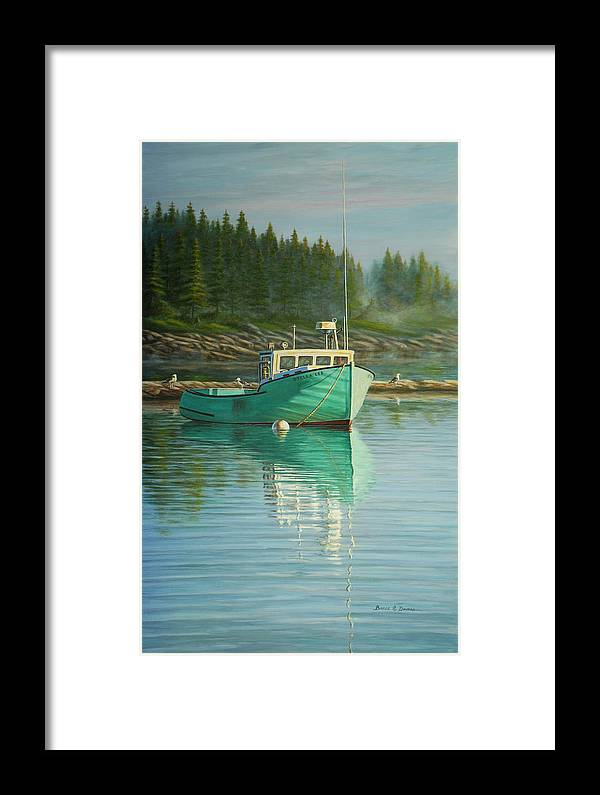 Marine Art Framed Print featuring the painting Stella Lee by Bruce Dumas
