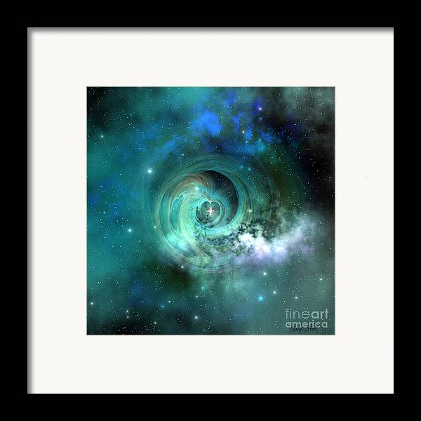 Universe 3d Framed Print featuring the painting Stellar Matter by Corey Ford