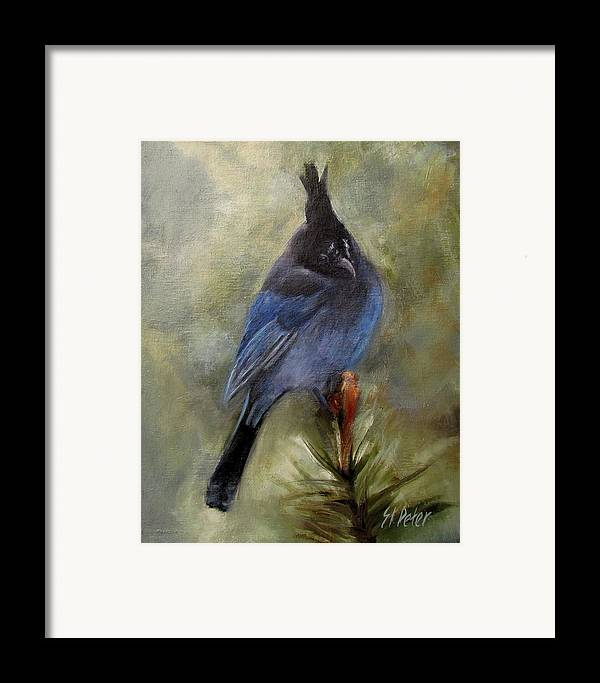 Mountain Framed Print featuring the painting Stellar Of A Bird by Mary St Peter