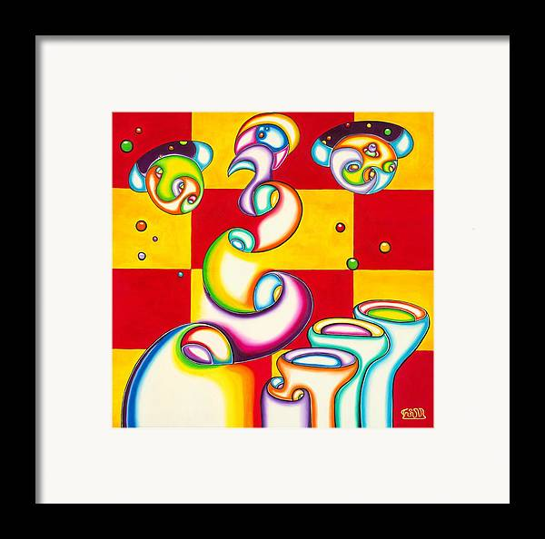 Fanasy Framed Print featuring the painting Stellar Ports by      Gillustrator