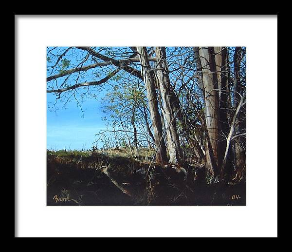Landscape Framed Print featuring the painting Step Into Morning by William Brody