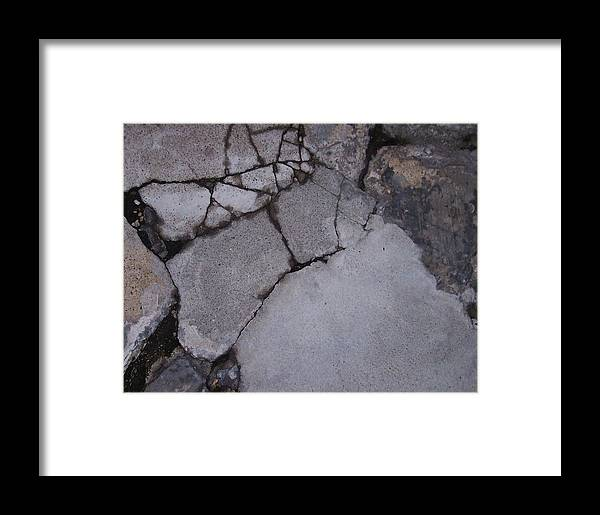 Bstract City Sidewalk Urban Chicago Industrial Framed Print featuring the photograph Step On A Crack 3 by Anna Villarreal Garbis