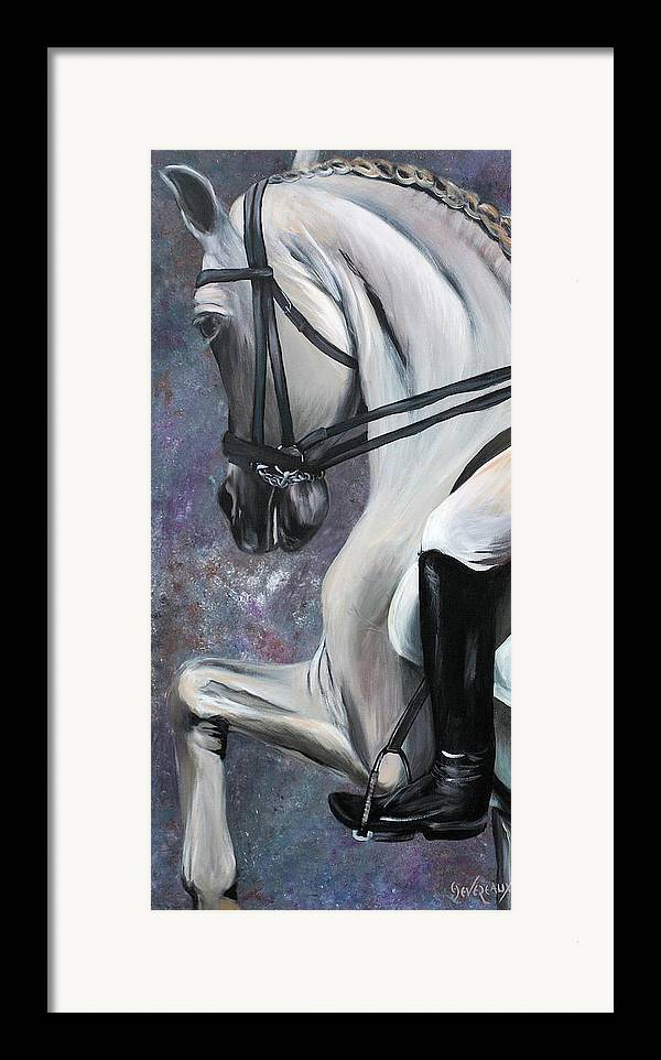 Horse Framed Print featuring the painting Steppin' Out by Cher Devereaux