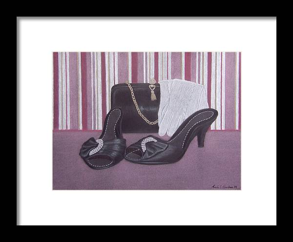 Shoes Framed Print featuring the drawing Stepping Out by Nicole I Hamilton