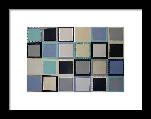 Squares Framed Print featuring the painting Stepping Stones by Gay Dallek
