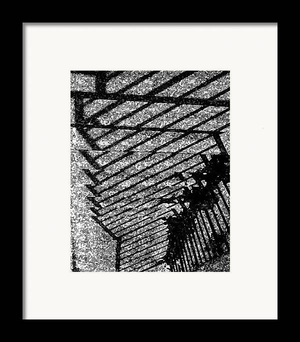 Steps Railings Framed Print featuring the photograph Steps by John Bradburn
