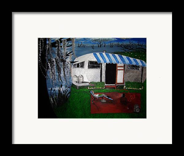 Trailer Framed Print featuring the painting Stereotype by Sharon Supplee