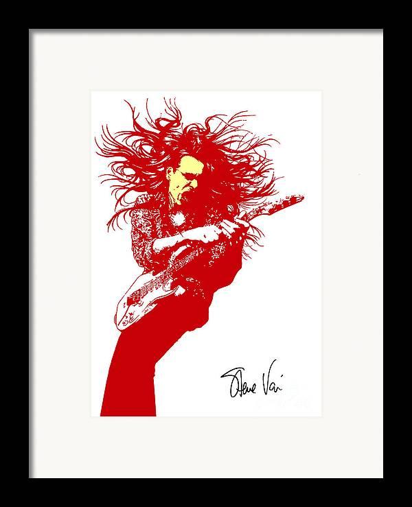 Steve Vai Framed Print featuring the digital art Steve Vai No.01 by Caio Caldas