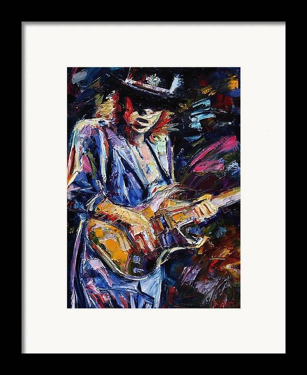 Stevie Ray Vaughan Painting Framed Print featuring the painting Stevie Ray Vaughan by Debra Hurd