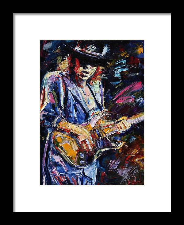 Stevie Ray Vaughan Painting Framed Print featuring the painting Stevie Ray Vaughan by Debra Hurd