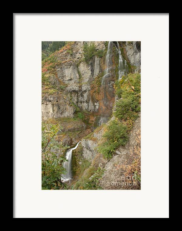 Waterfall Framed Print featuring the photograph Stewart Falls In Autumn by Dennis Hammer