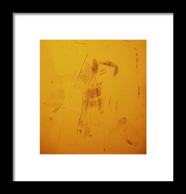 Stain Framed Print featuring the photograph Stick Man by Darryl Prevost