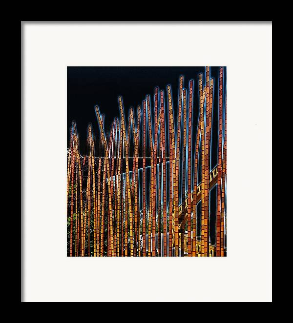 Poles Framed Print featuring the digital art Sticks by Kenna Westerman