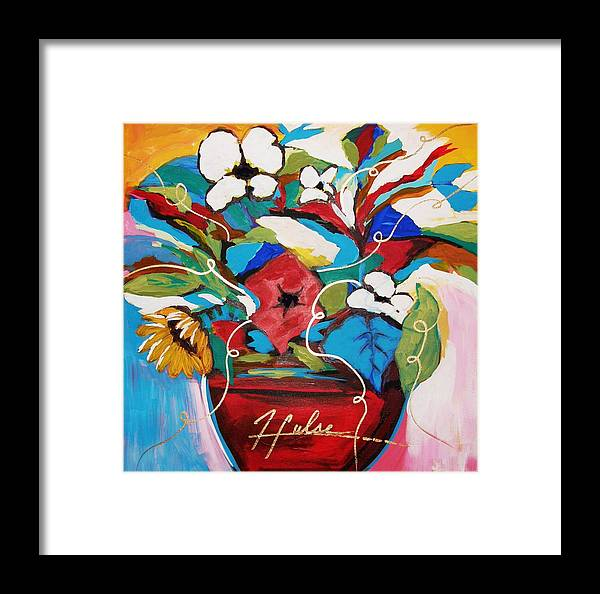 Floral Framed Print featuring the painting Still Dreaming Of Tuscany by Gina Hulse