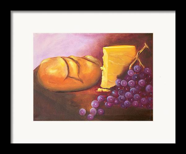 Still Lifen Food Framed Print featuring the painting Still Life 1 by Joni McPherson