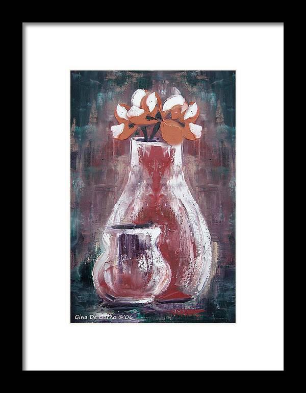Still Life Framed Print featuring the painting Still Life 4 by Gina De Gorna