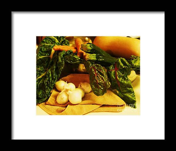 Vegetables Framed Print featuring the photograph Still Life And Then Dinner by Jamey Balester