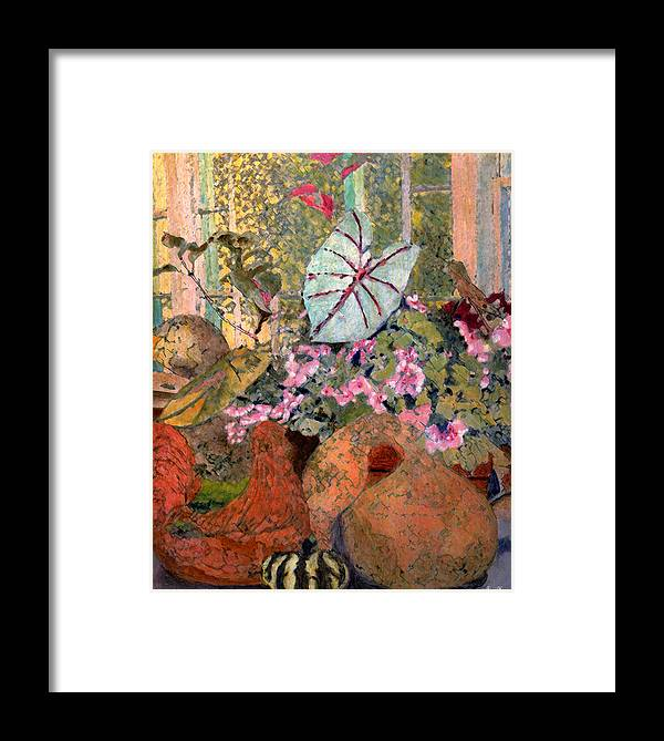 Still Life Framed Print featuring the painting Still Life At White Wagon Farm by Tom Herrin