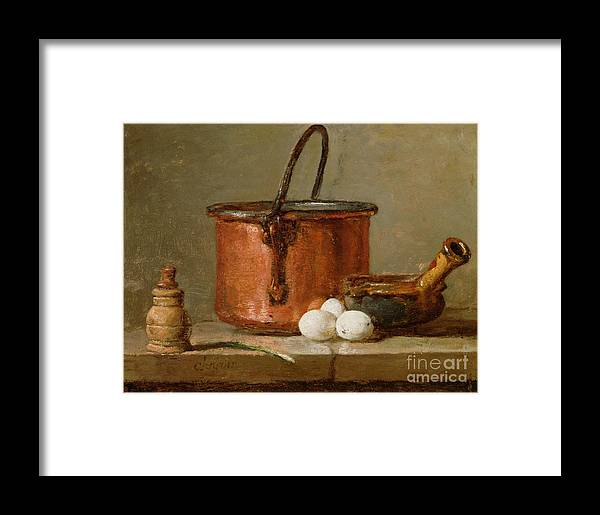 Still Framed Print featuring the photograph Still Life by Jean-Baptiste Simeon Chardin