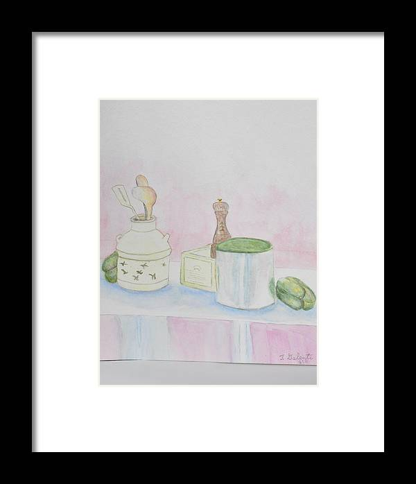Kitchen Table Framed Print featuring the painting Still Life Kitchen Table by Jonathan Galente